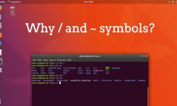 ~ Đối với Trang chủ và / Đối với Thư mục gốc trong Linux và Mac: Tại sao những biểu tượng này lại được chọn?