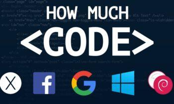 Google, Facebook và Windows có bao nhiêu dòng code 'mã'?